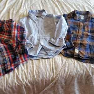 3 button up tops.